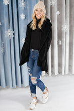 Load image into Gallery viewer, Overly Cozy Cardigan in Black