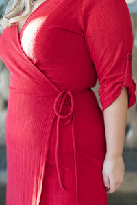 Reckless Abandon Dress In Red