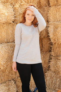 Sadie's Simple Sweater in Gray
