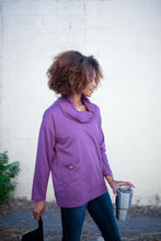 Load image into Gallery viewer, Safe & Sound Cowl Neck In Sugarplum