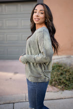 Load image into Gallery viewer, Slouchy Sleeve Top in Olive