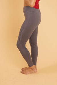 Soft As Butter Moto Leggings in Charcoal