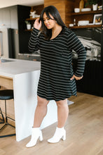 Load image into Gallery viewer, Stripes For Likes Dress in Black