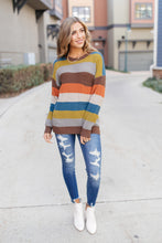 Load image into Gallery viewer, Summoning Fall Striped Sweater