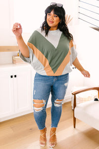 The Kourtney Chevron Top