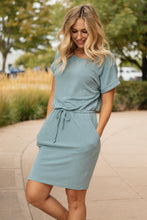 Load image into Gallery viewer, The Day Out Dress in Dusty Blue