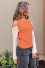 Load image into Gallery viewer, The Ellie Drop Shoulder Top in Pumpkin