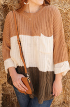 Load image into Gallery viewer, Three Times The Color Sweater in Toffee Combo