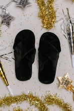 Load image into Gallery viewer, Toasty But Mostly Cozy Black Slippers