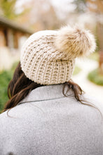 Load image into Gallery viewer, Cable Knit Beanie In Mocha