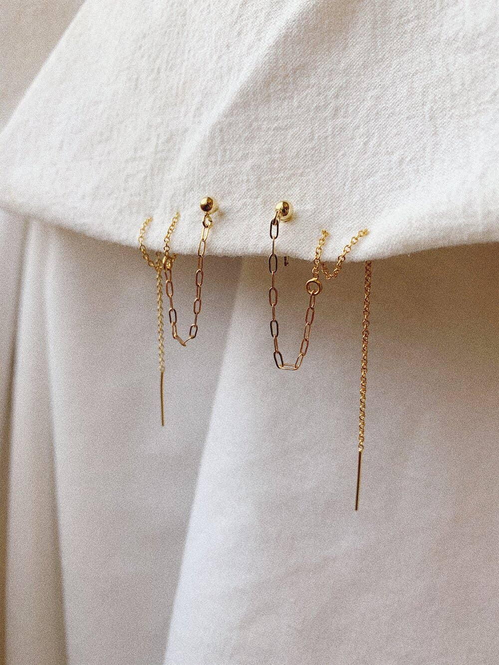 Cable Chain Threader Earrings