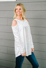 Load image into Gallery viewer, Crushing It Cold Shoulder Blouse In Pearl
