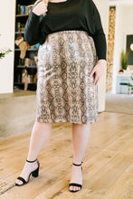Load image into Gallery viewer, Happy In My Skin Sequin Pencil Skirt