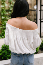 Load image into Gallery viewer, Just Add Sun Off Shoulder Top In White