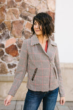 Load image into Gallery viewer, Upper Crust Houndstooth Moto Jacket
