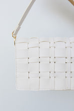 Load image into Gallery viewer, Woven Vegan Leather Clutch