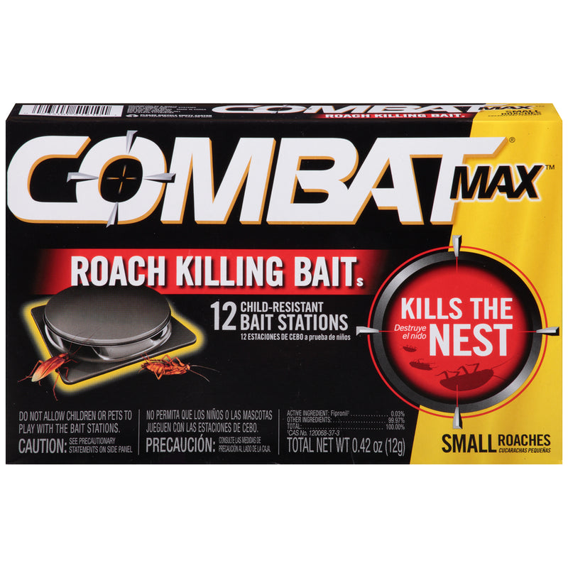 Dial Professional 51910 Combat Quick Kill, Small Roach, 1 Pack - 12 Bait Stations