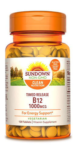 Sundown Vitamin B12 Timed Release Tablets, 1000mcg, 120 Count