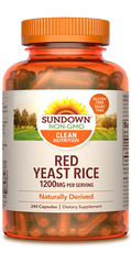Sundown Red Yeast Rice Capsules, 1200mg, 240 Count