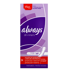 Always Xtra Protection Daily Liners, Extra Long 34 CT