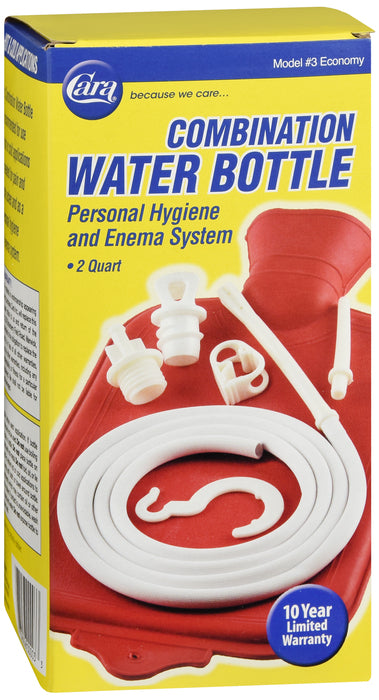 Cara Combination Water Bottle Personal Hygiene and Enema System, 1 System