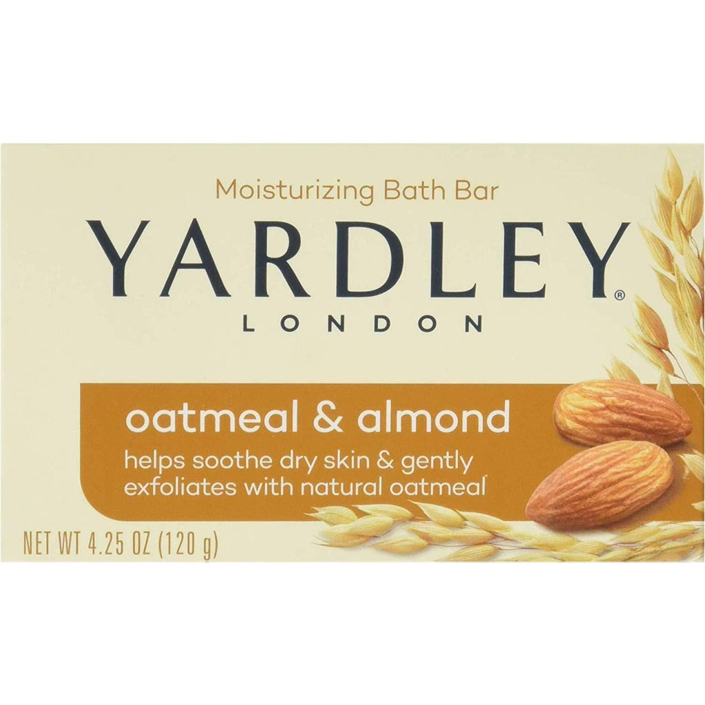 Yardley London Naturally Moisturizing Bath Bar, Oatmeal & Almond, 4.25 oz
