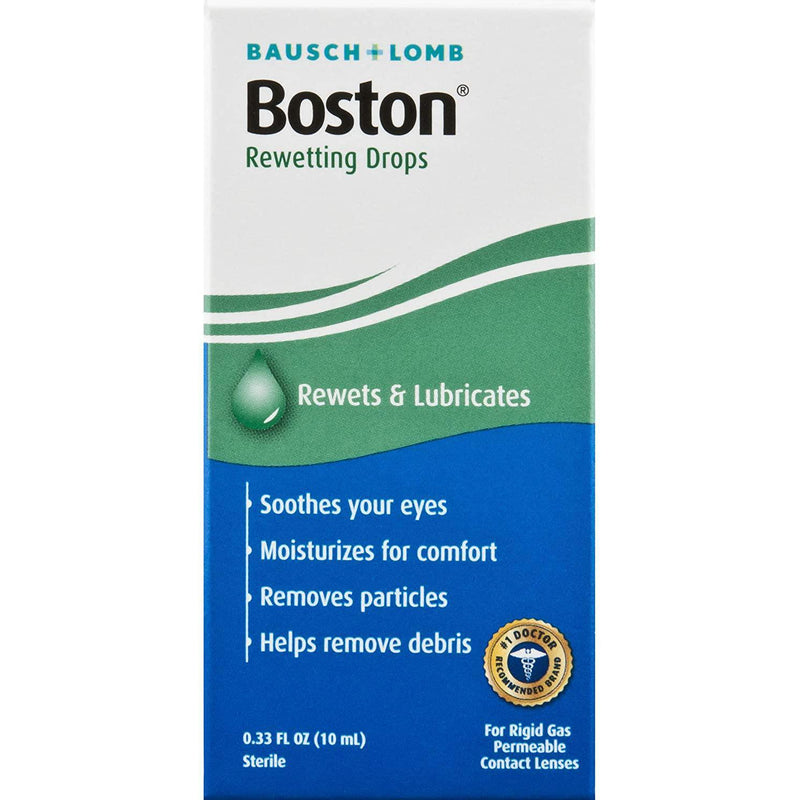 Boston Rewetting Drops for Rigid Gas Permeable Contact Lenses, 0.33 Fl oz