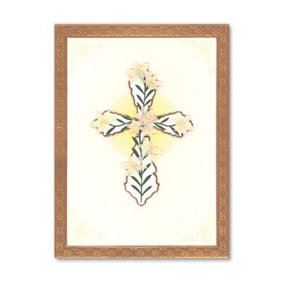 PAPYRUS Sympathy - cross with flowers