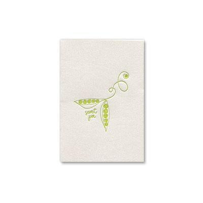 PAPYRUS New Baby - sweet pea letterpress