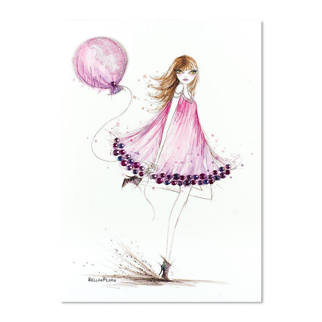 PAPYRUS  Happy Birthday - fashion girl with balloon