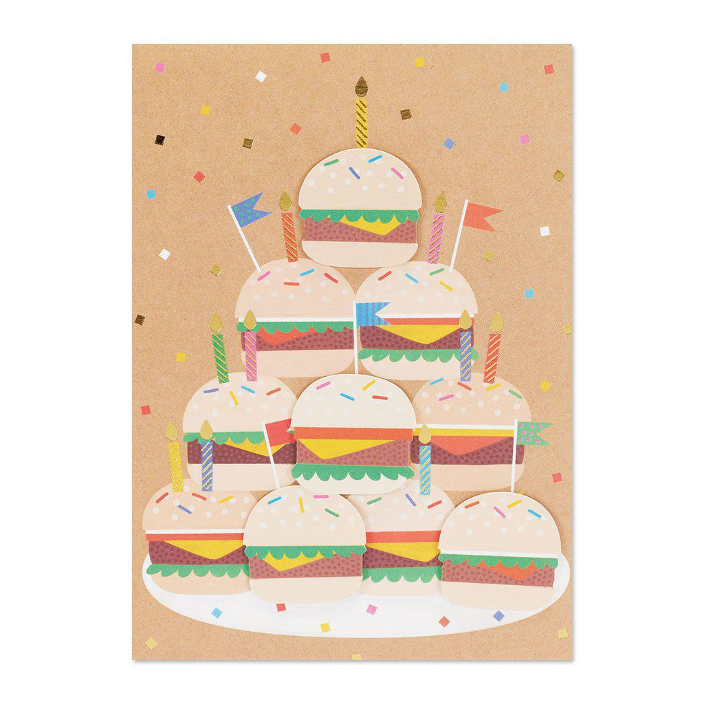 PAPYRUS  Happy Birthday - burgers with candles