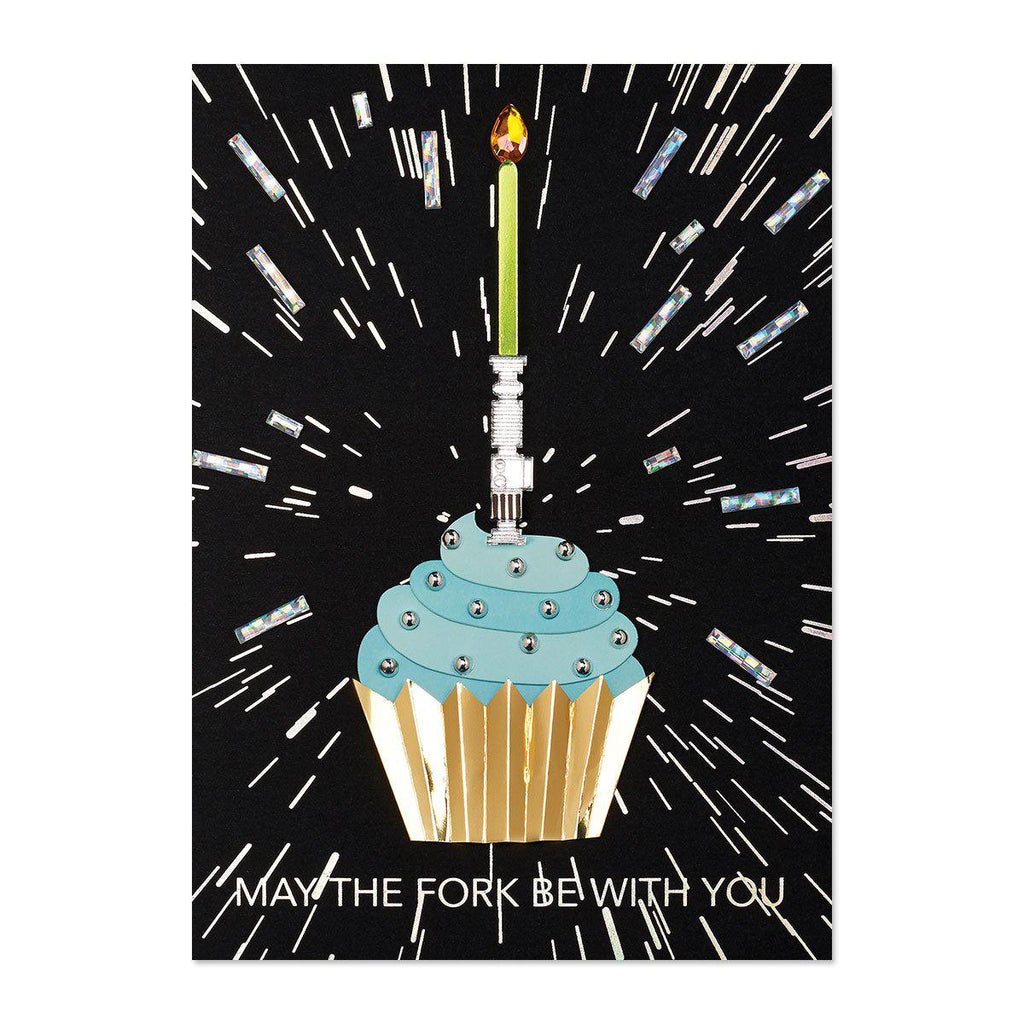 PAPYRUS  Happy Birthday - lightsaber cupcake