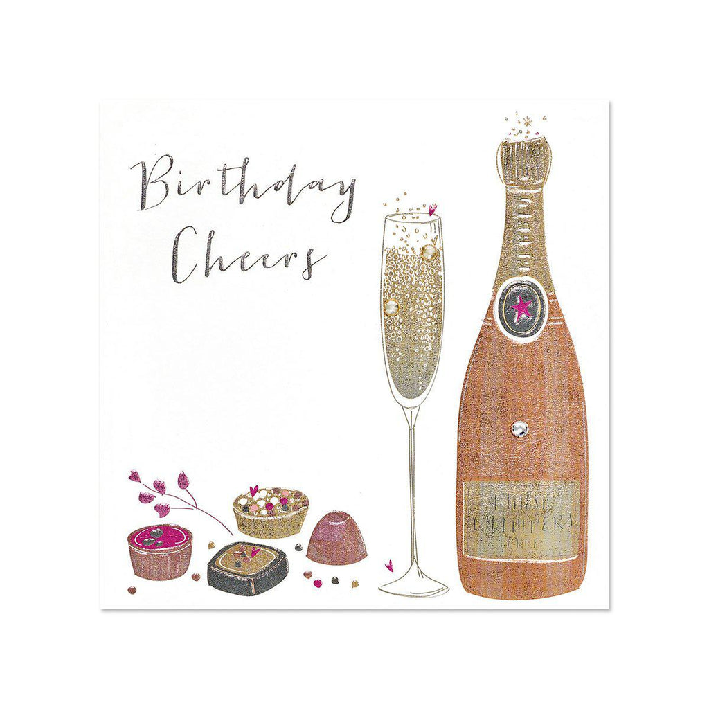 PAPYRUS Happy Birthday - CHAMPAGNE AND TREATS