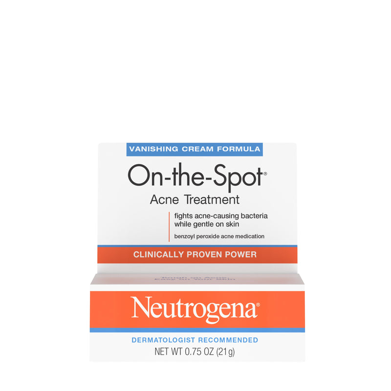 Neutrogena Benzoyl Peroxide Spot Treatment Cream, 0.75 oz