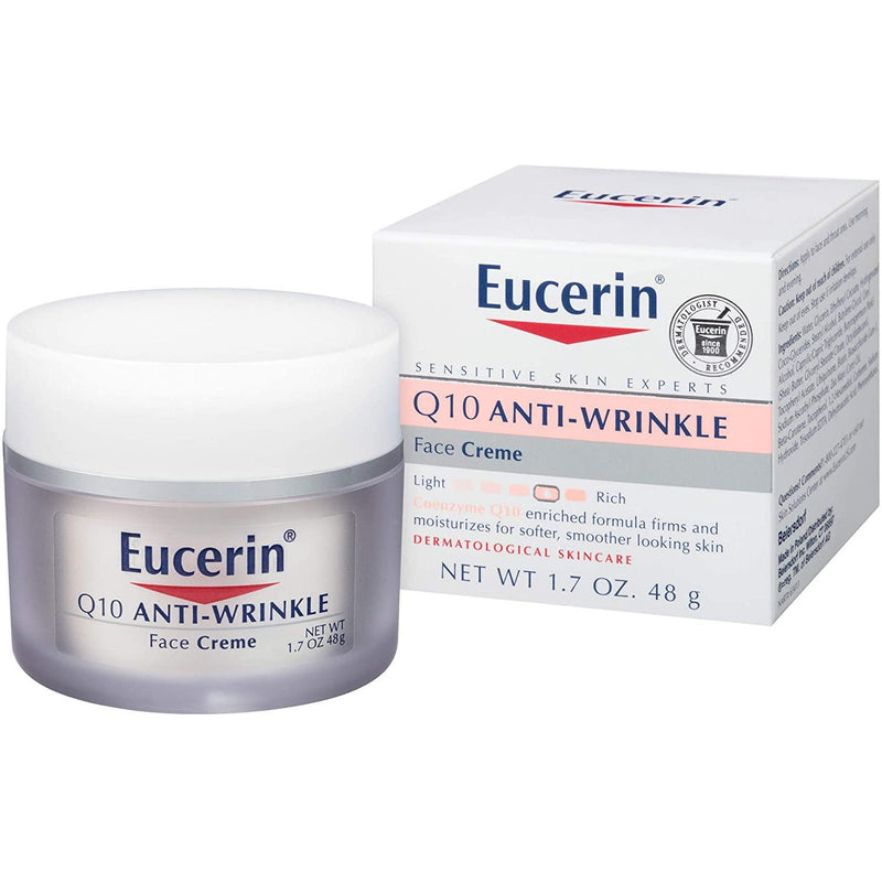 Eucerin Q10 Anti-Wrinkle Sensitive Skin Face Creme 1.7 oz.