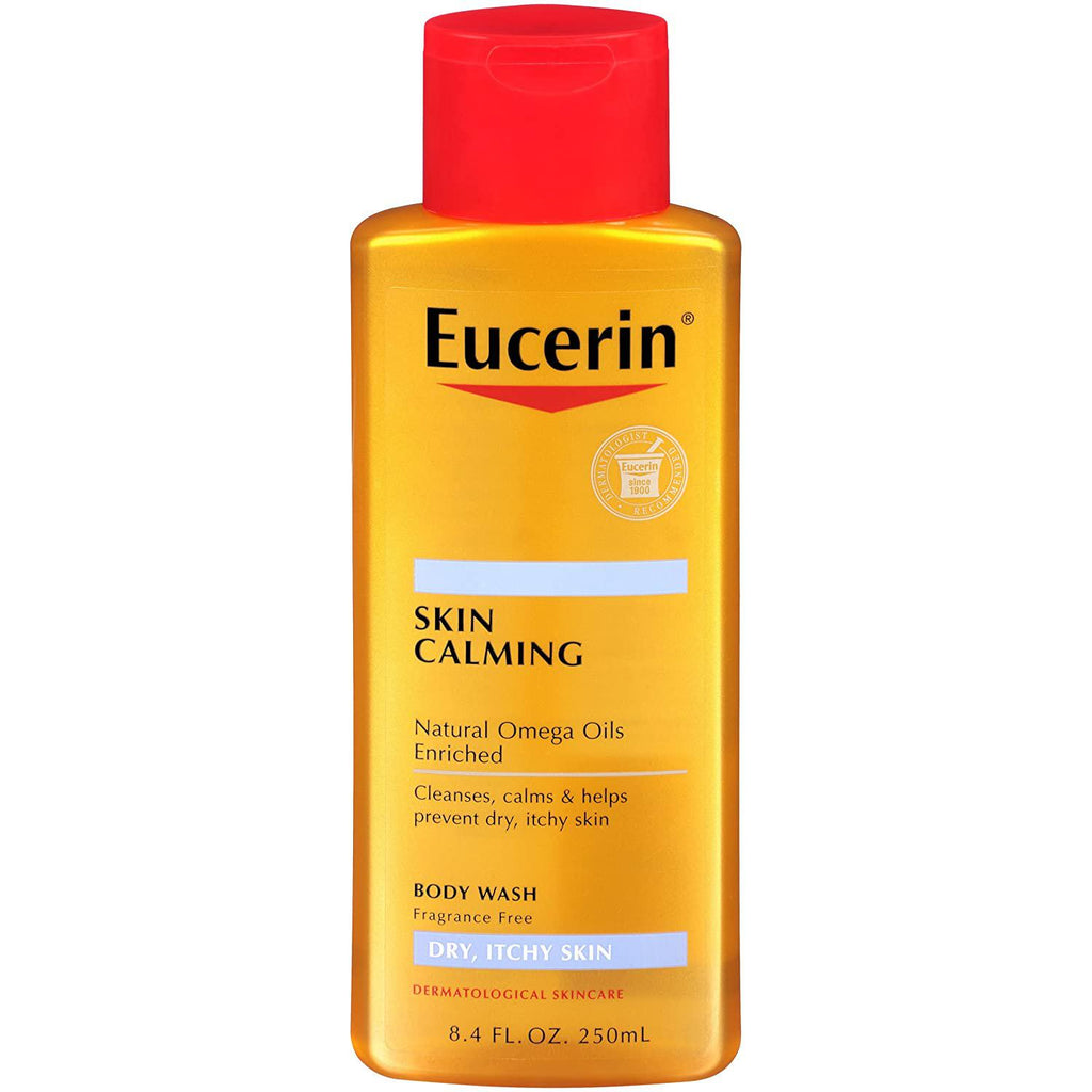 Eucerin Skin Calming Dry Itchy Skin Body Wash 8.40 Fl oz