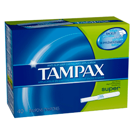 Tampax Tampons, Super Unscented Cardboard, 40 Ct