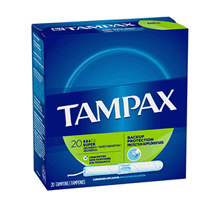 Tampax Flushable Super 20 Ct