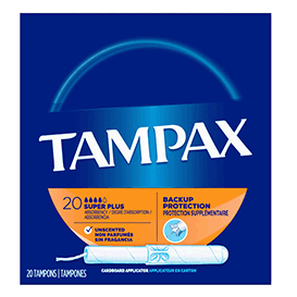 Tampax Cardboard Super Plus Tampons, Unscented 20 CT