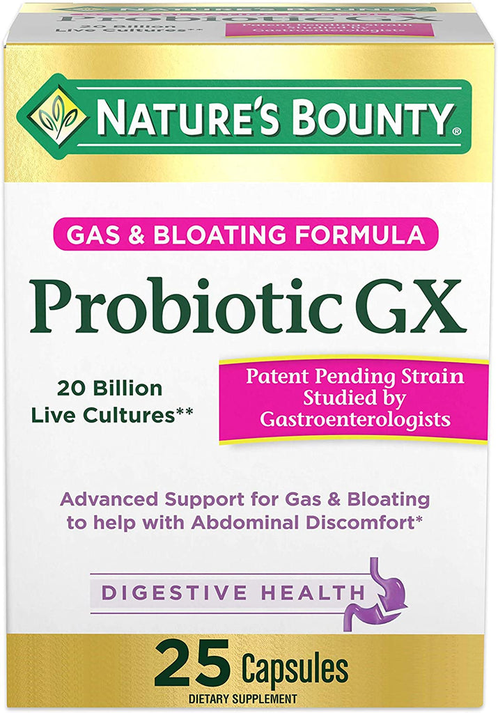 Nature's Bounty Probiotic GX, 25 Capsules