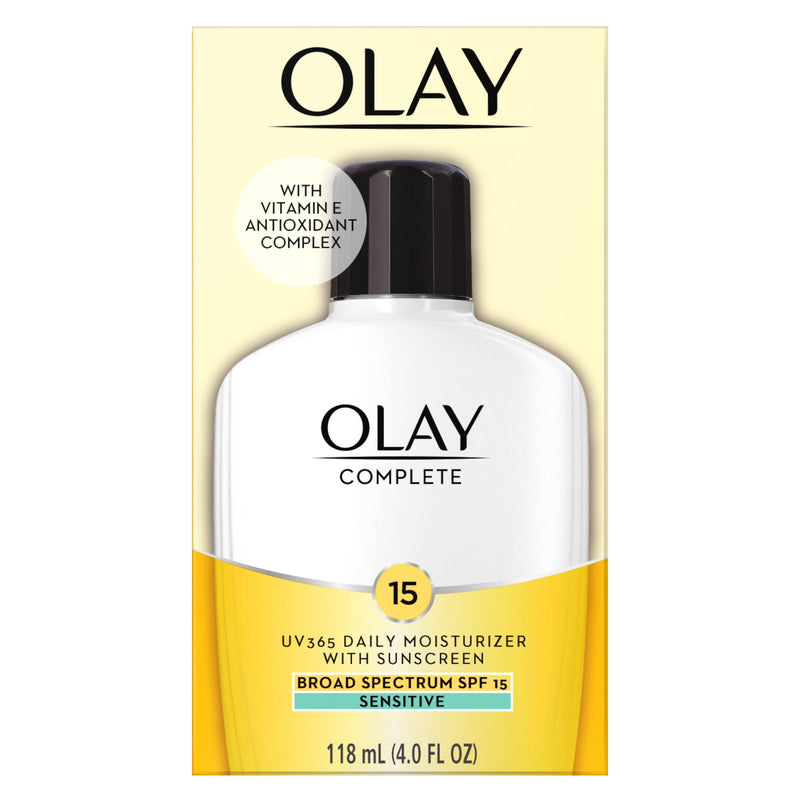 Olay Complete Lotion Moisturizer for Sensitive Skin SPF 15, 4.0 oz