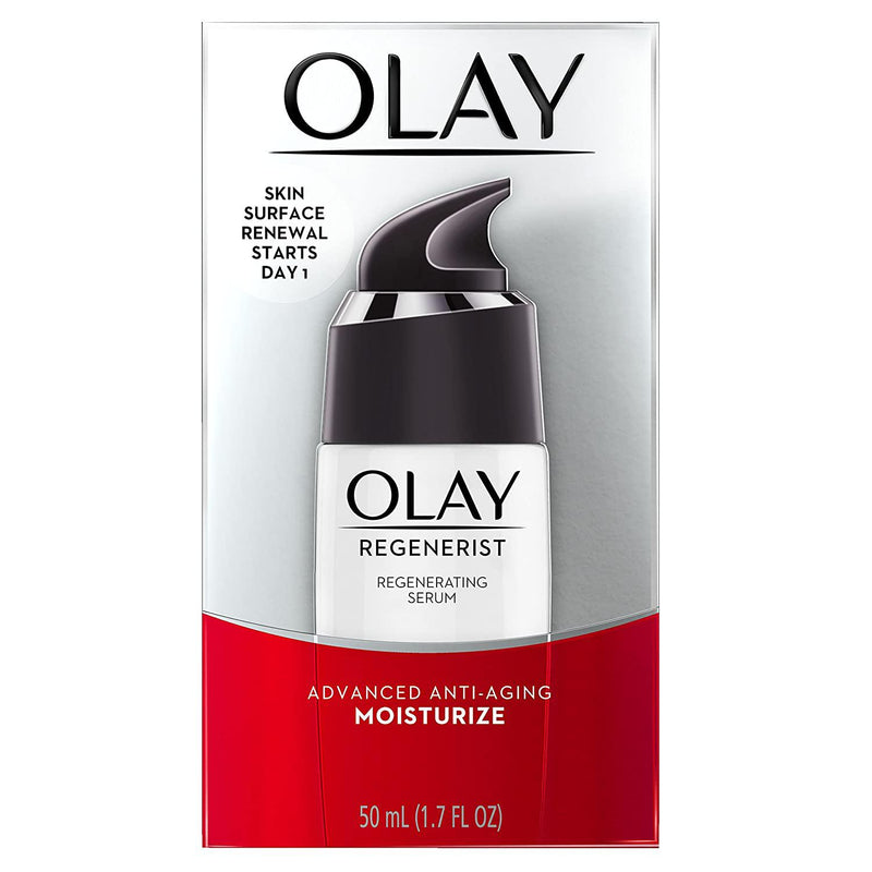 Olay Regenerist Regenerating Serum, Light Gel Face Moisturizer 1.7 Fl oz