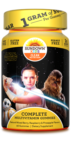 Sundown Kids Star Wars Complete Multivitamin Gummies, 60 Count