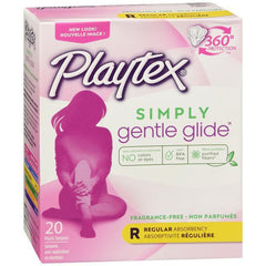 Playtex Simply Gentle Glide Tampons, Unscented, Regular, 20 CT