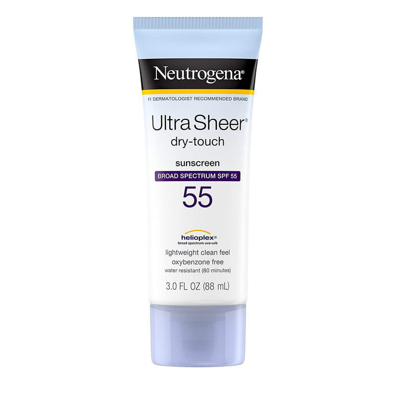 Neutrogena Ultra Sheer Dry-Touch SPF 55 Sunscreen Lotion, 3 Fl. oz