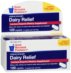 GNP Dairy Relief, 120 Caplets
