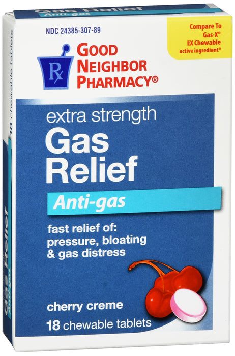 GNP Extra Strength Gas Relief 125mg, 18 Tablets