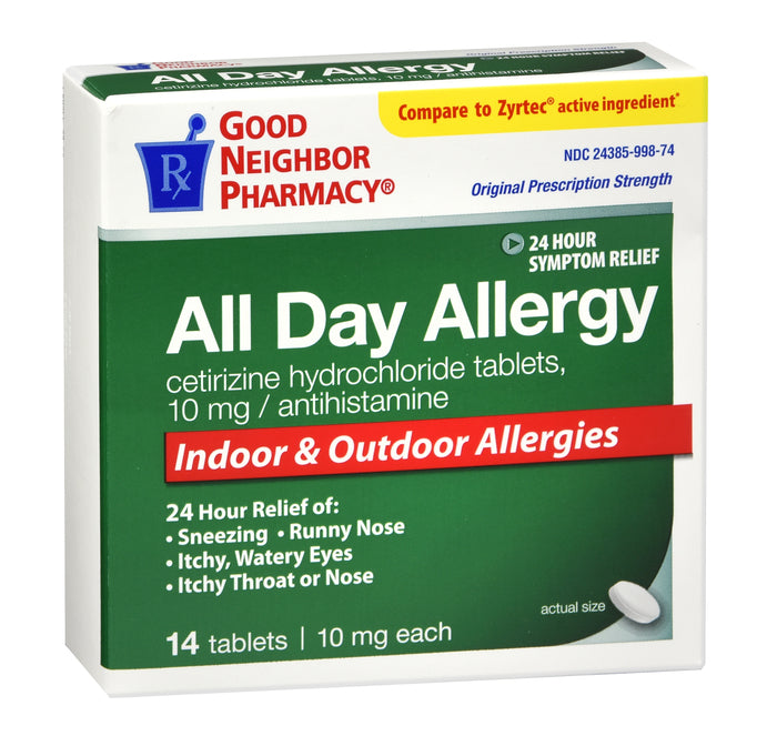 GNP All Day Allergy Relief, 14 Tablets