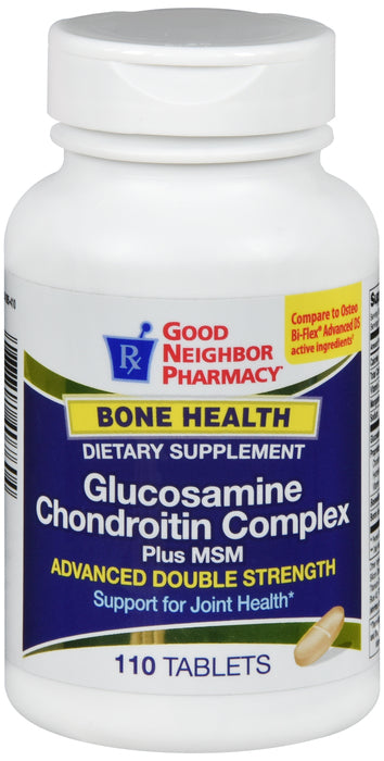 GNP Glucosamine Chondroitin Complex Advanced Double Strength, 110 Tablets