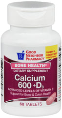 GNP Calcium 600 +D3, 60 Tablets